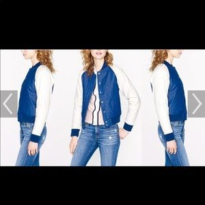 J. Crew Collection Denim Bomber